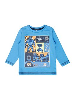 Boys Robot collage graphic tee