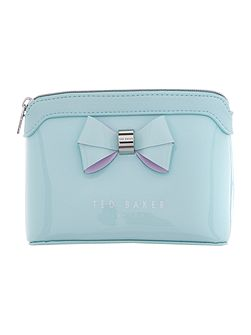 Harloe light green small bow cosmetic bag