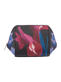 Ted Baker Floree black floral small bow cosmetic