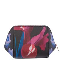 Ted Baker Floree black floral small bow cosmetic bag