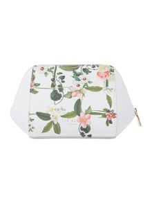 Ted Baker Miziei white floral small bow cosmetic bag