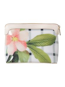 Ted Baker Amalfa white floral small bow cosmetic bag