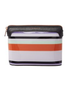 Ted Baker Freya multi coloured small bow cosmetic bag