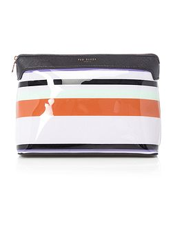 Lorello multi coloured large bow cosmetic bag
