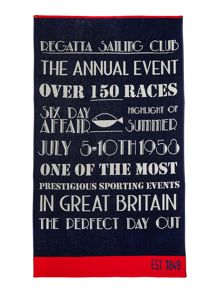 Linea Regatta sailing beach towel