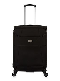 Delta black 4 wheel medium expandable suitcase