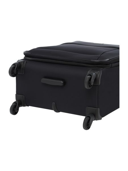 Antler Delta black 4 wheel medium expandable suitcase