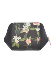 Ted Baker Pintoe black floral large bow cosmetic bag