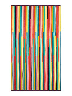 Multistripe beach towel