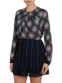 Michael Kors Mystic print v neck top