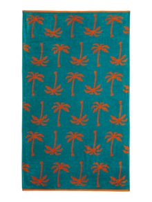 Linea Palm tree beach towel