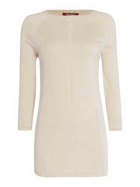 Max Mara Rete relaxed tunic jumper in silk and wool mix