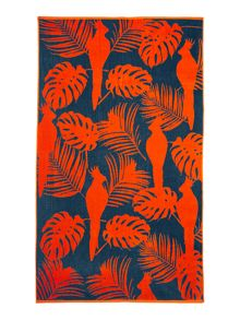 Linea Palm bird beach towel