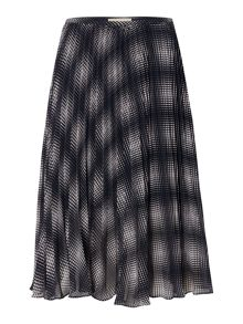 Michael Kors Mystic print pleated skirt