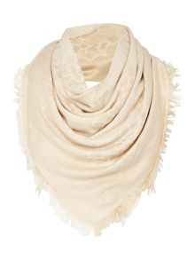Linea Leopard Matt And Shine Jacquard Scarf