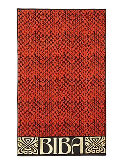 Coral snake beach towel