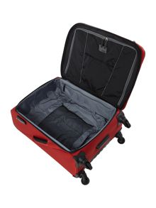 Helix red 4 wheel medium expandable soft case