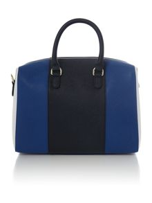 Eco saff blue stripe tote bag