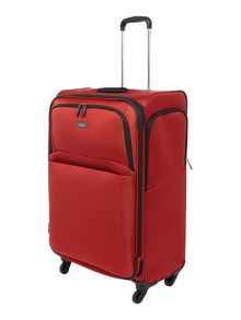 Helix red 4 wheel large expandable soft case