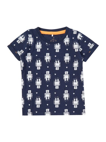 name it Boys Robot all over print tee