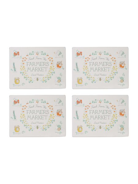 Dickins & Jones Market Place Cork Placemat Set Of 4