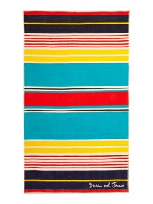 Dickins & Jones Multi stripe beach towel