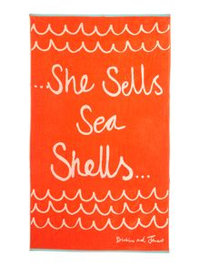Dickins & Jones Seashells beach towel