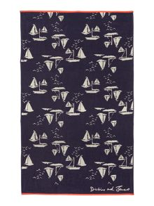 Dickins & Jones Sailing boats beach towel