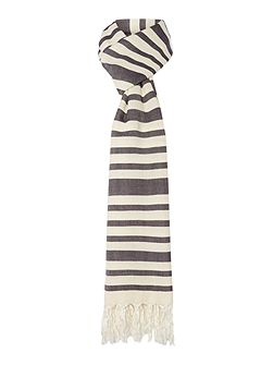Vidim textured stripe silk mix scarf