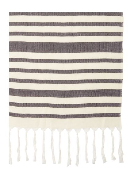 Max Mara Vidim textured stripe silk mix scarf