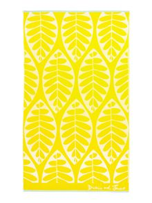 Dickins & Jones Chartreuse leaf beach towel