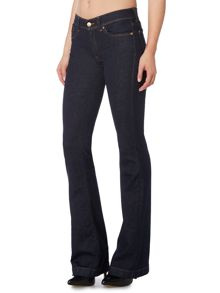 7 For All Mankind Charlize high rise flare jean in La Rinse Indigo