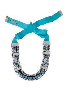 Max Mara Samba statement necklace with tie