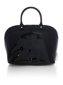 Armani Jeans Patent black dome bag