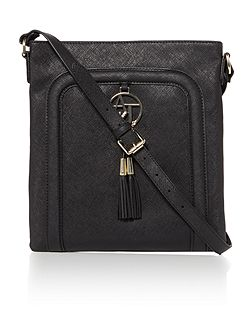 Armani Jeans Eco Saff black cross body bag