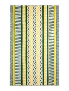 Living by Christiane Lemieux Blue chevron beach towel