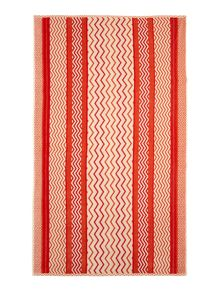 Living by Christiane Lemieux Orange chevron beach towel