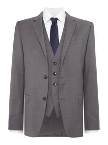 Hugo Boss Huge Genius 3 Piece Solid Suit