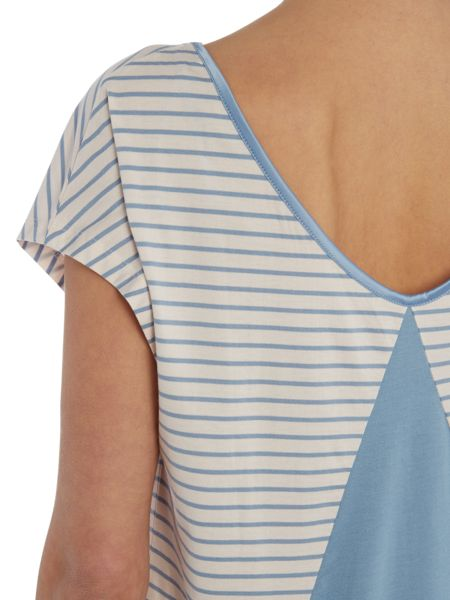Tommy Hilfiger Striped modal short sleeve top