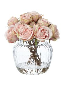 Shabby Chic Dusky pink rose arrangement