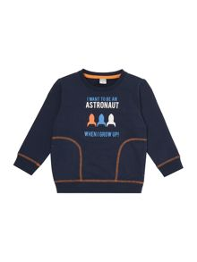 name it Boys Astronaut graphic sweater