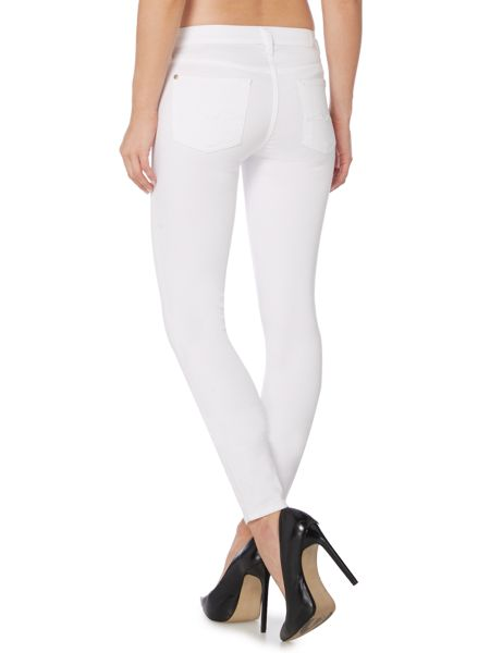 7 For All Mankind Slim illusion mid rise skinny jean in optic white