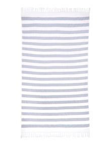 Gray & Willow Blue beach towel
