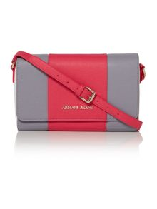 Armani Jeans Eco saff pink stripe cross body bag