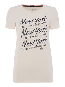 Tommy Hilfiger New York print short sleeve t shirt