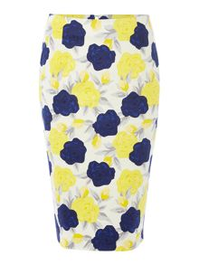 Dickins & Jones Floral Print Pencil Skirt
