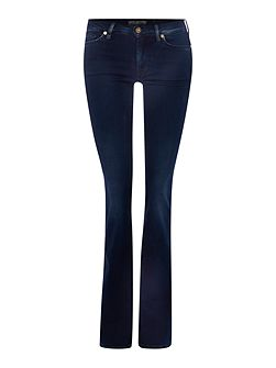 Slim illusion skinny bootcut jean in rich indigo