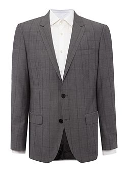 Men's Hugo Boss Huge Genius Grey Check Suit