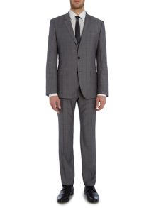 Hugo Boss Huge Genius Grey Check Suit