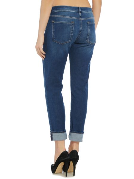 7 For All Mankind Relaxed skinny jean in La mid indigo